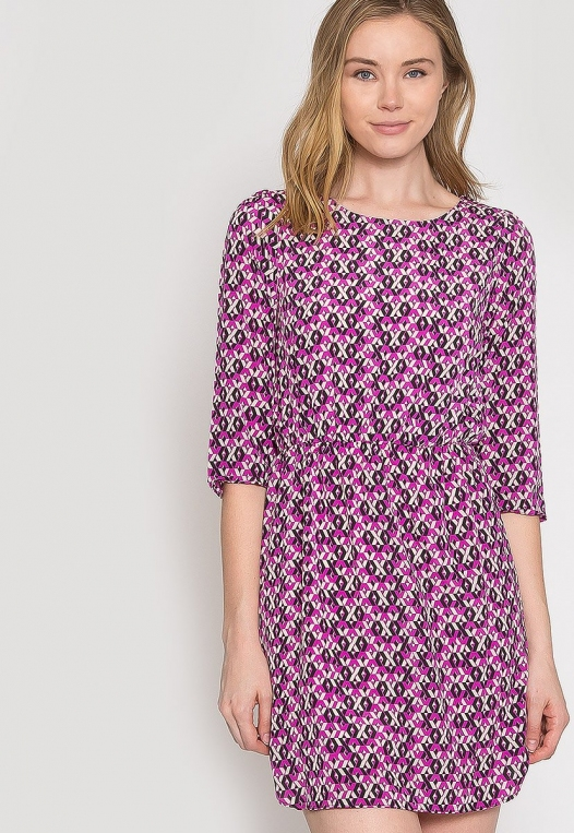 Quirky Geometric Printed Dress alternate img #6