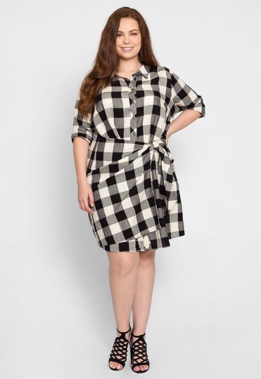 Plus Size Buffalo Plaid Dress alternate img #4