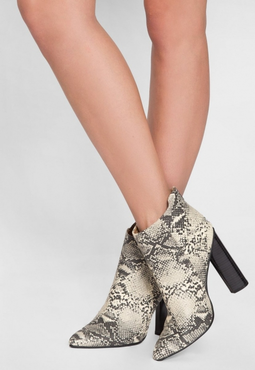 Wild Party Snakeskin Ankle Boots alternate img #4