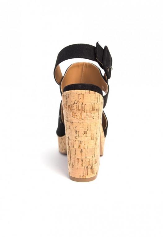 Good Stuff Cork Platform Wedge Sandals alternate img #2