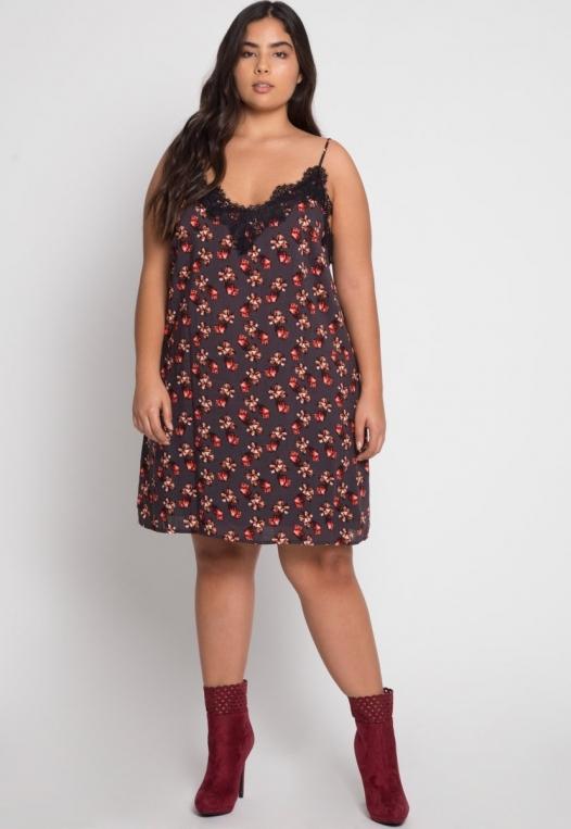 Plus Size Floral Slip Dress alternate img #4
