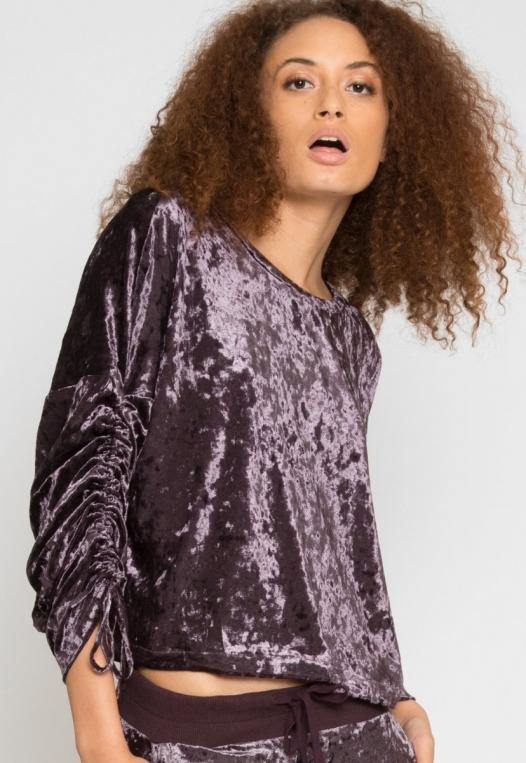 Velvet Evening Crop Sweater alternate img #1