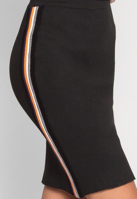 Rainbow Side Tape Knit Skirt alternate img #6