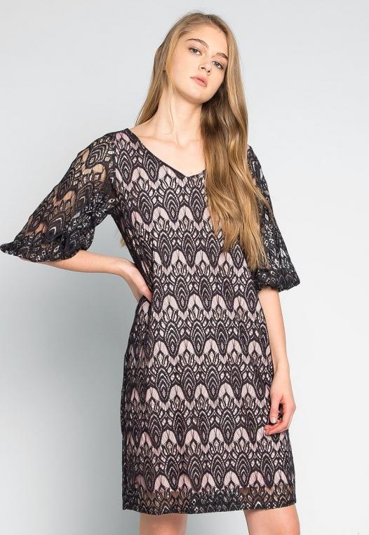Melancholia Lace Mini Dress alternate img #1