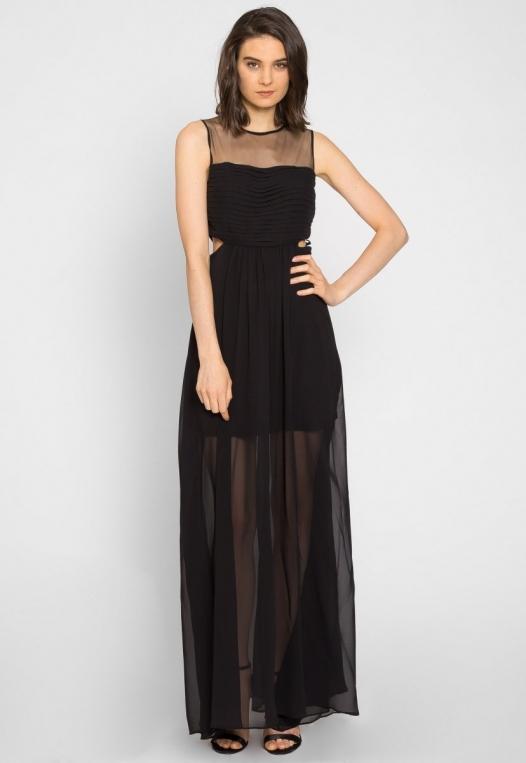 Shine Cut Out Chiffon Maxi Dress alternate img #3