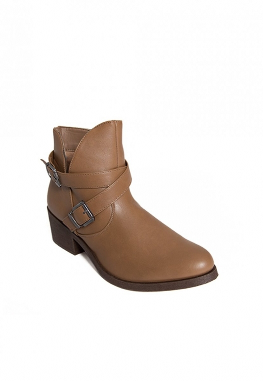 Tavern Buckle Ankle Boots in Taupe alternate img #4