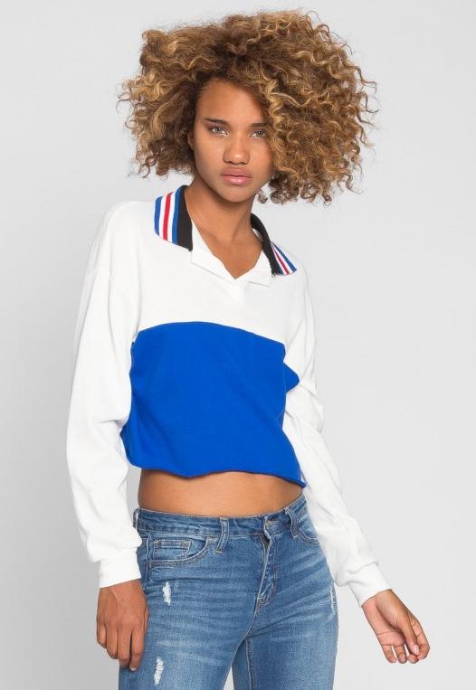 Rugby Colorblock Oversized Sweatshirt alternate img #3