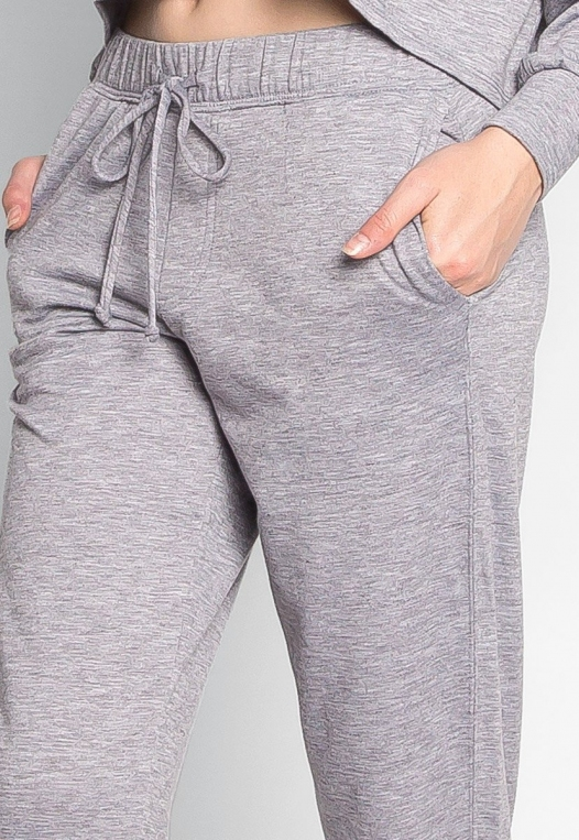 Meet Me There Heathered Joggers in Gray alternate img #6