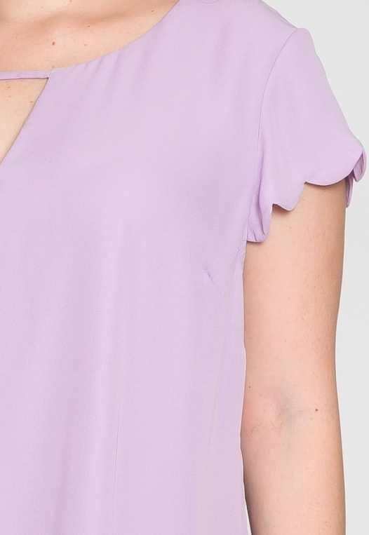 Plus Size Clouds Scallop Edge Top in Lavender alternate img #6
