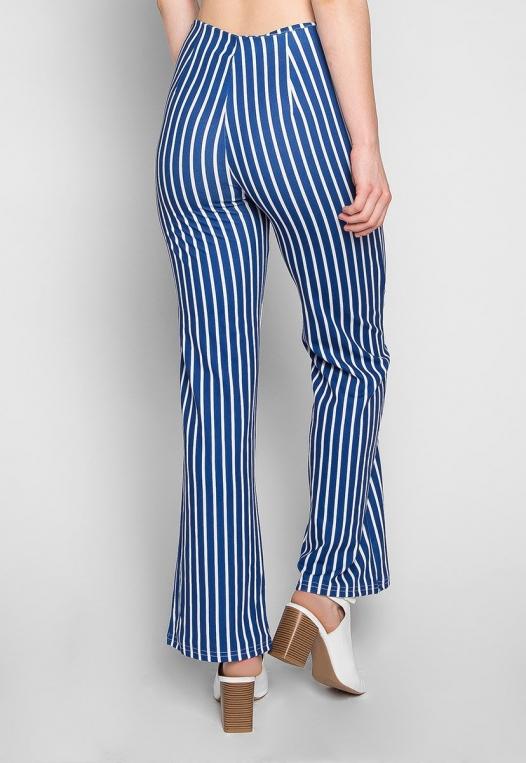 Flare Games Stripe High Waist Pants In Blue alternate img #2
