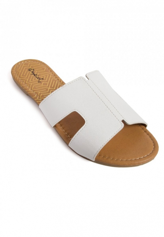 Bailey Cut Out Sandals in White alternate img #4