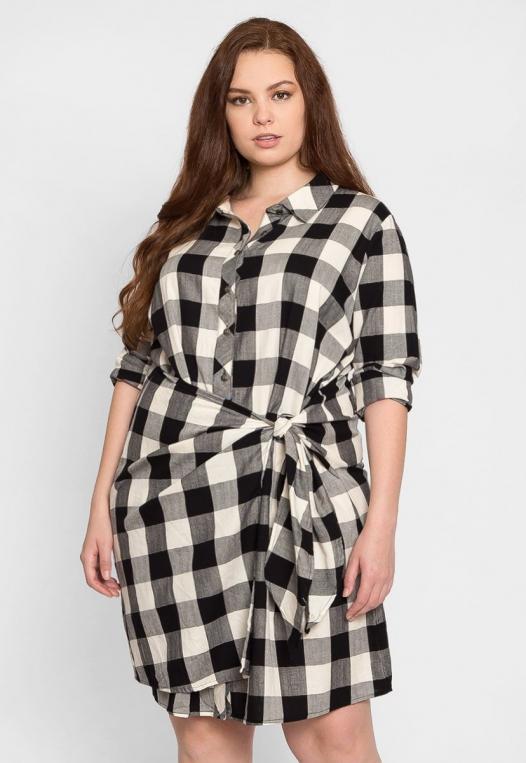 Plus Size Buffalo Plaid Dress alternate img #1
