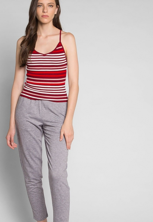 Stripes on Stripes Knit Top in Red alternate img #5