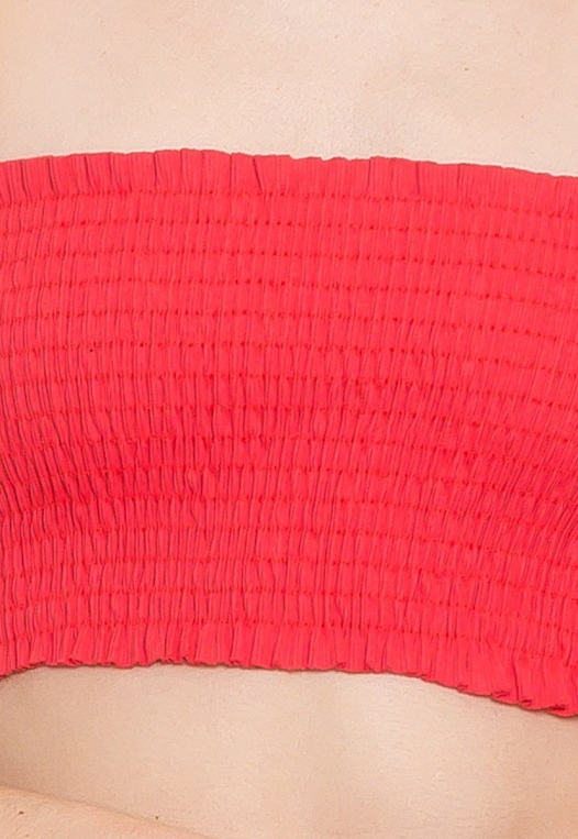 Heatwave Smock Tube Top in Coral alternate img #6