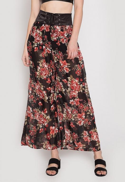 Samba Semi Sheer Flower Pants alternate img #2