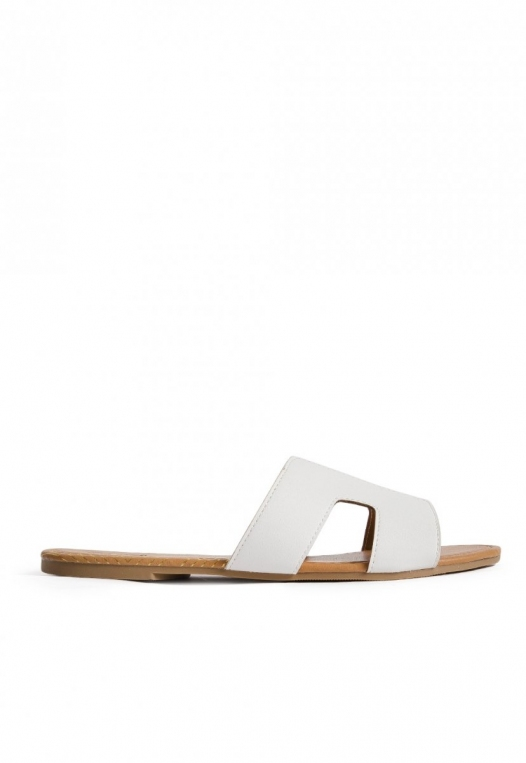 Bailey Cut Out Sandals in White alternate img #1