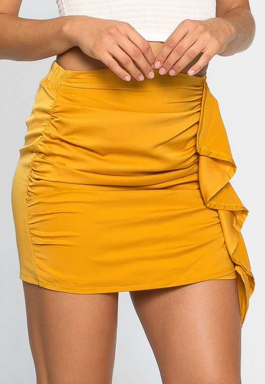Solstice Ruched Mini Skirt alternate img #4