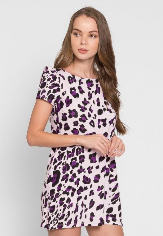 Wild Child Cheetah Tunic Dress in Lilac alternate img #4