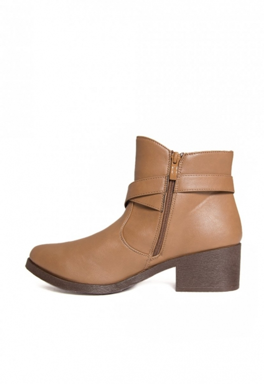Tavern Buckle Ankle Boots in Taupe alternate img #3