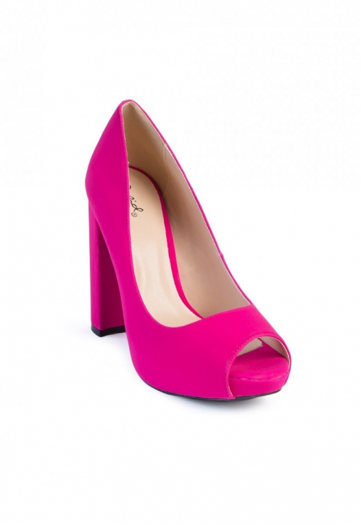 Statement Open Toe Block Pump Heels alternate img #4