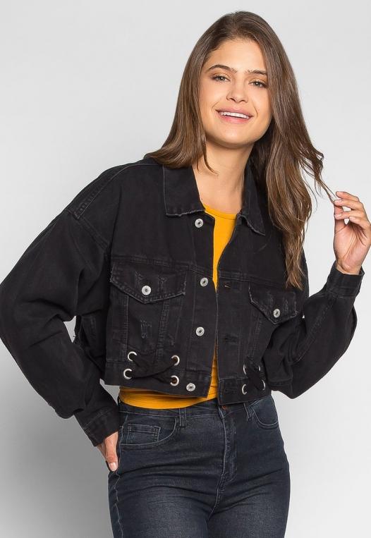Moonlight Crop Denim Jacket alternate img #1