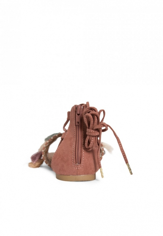 Eternity Tassel Gladiator Sandals in Light Pink alternate img #2
