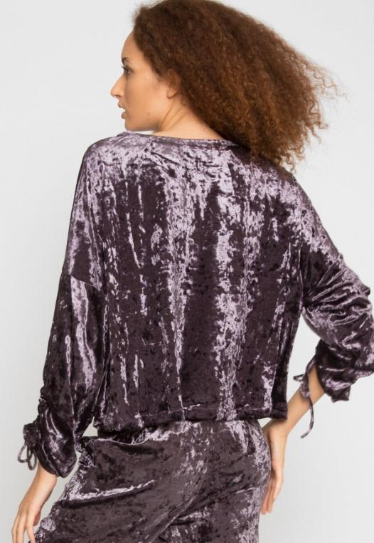 Velvet Evening Crop Sweater alternate img #3