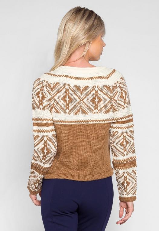 Explorers Geo Pattern Sweater in Brown alternate img #2