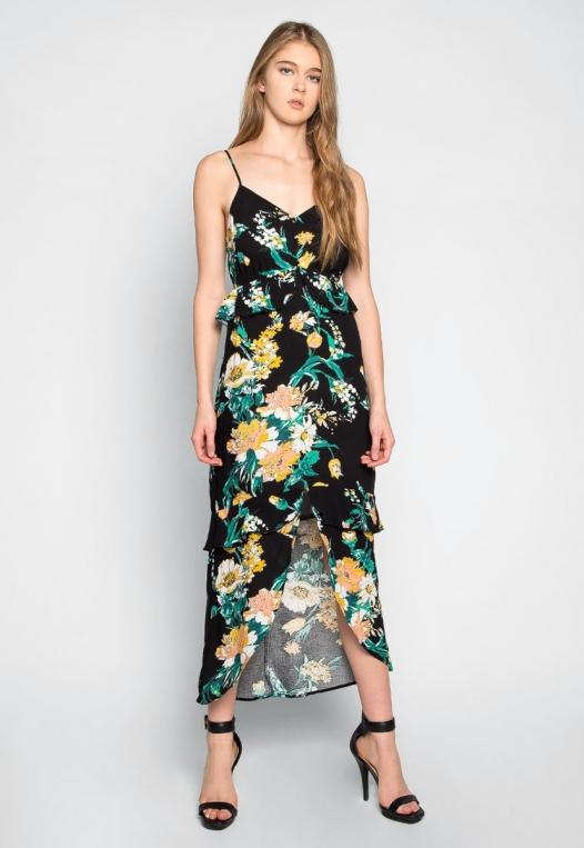 In Bloom Ruffle Waist Floral Dress alternate img #4