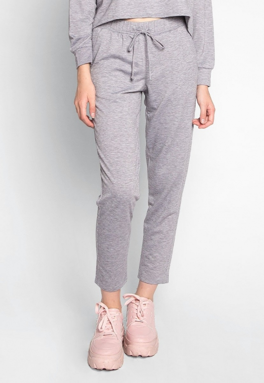 Meet Me There Heathered Joggers in Gray alternate img #3