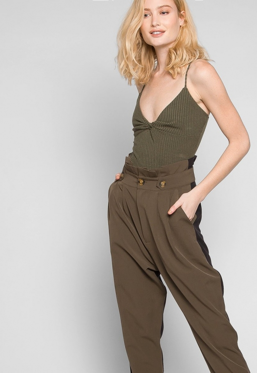 Sparrow Twisted Front Ribbed Bodysuit alternate img #5