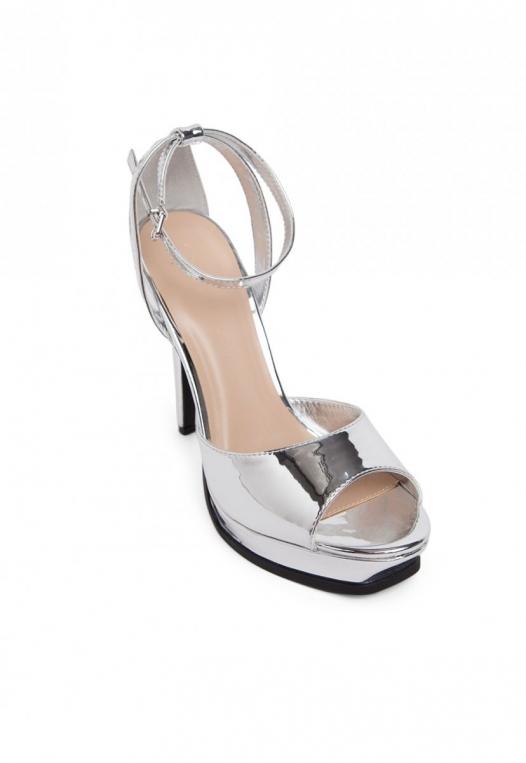Granted Metallic Ankle Strap Heels alternate img #4