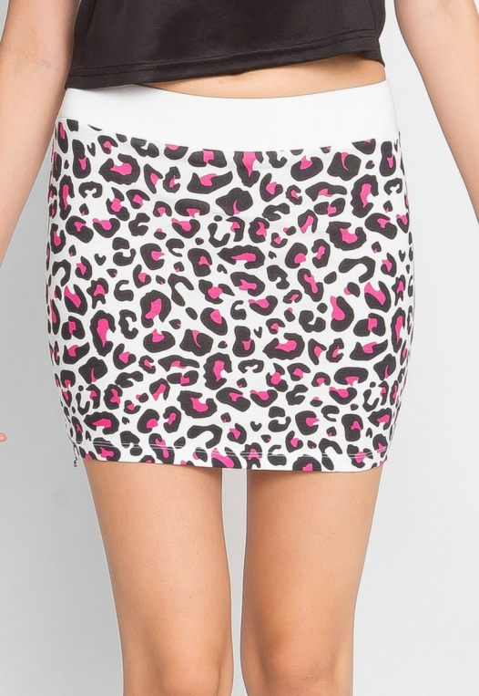 Psychedelic Leopard Knit Skirt alternate img #2