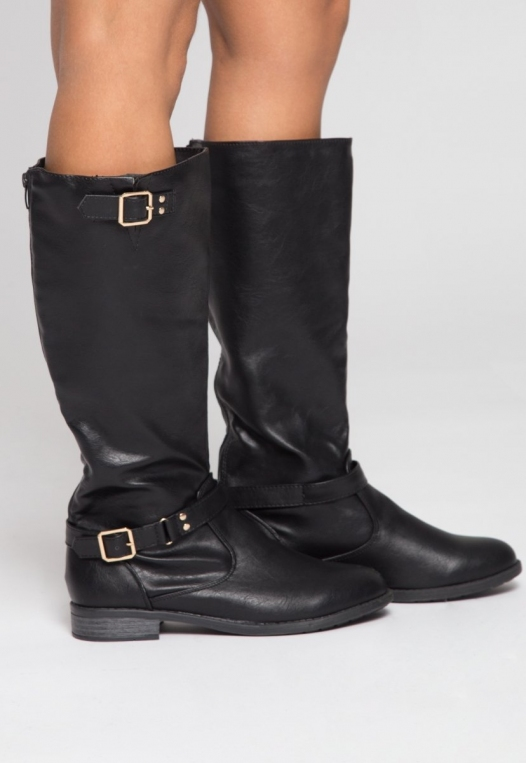 Justina Buckle Boots in Black alternate img #1