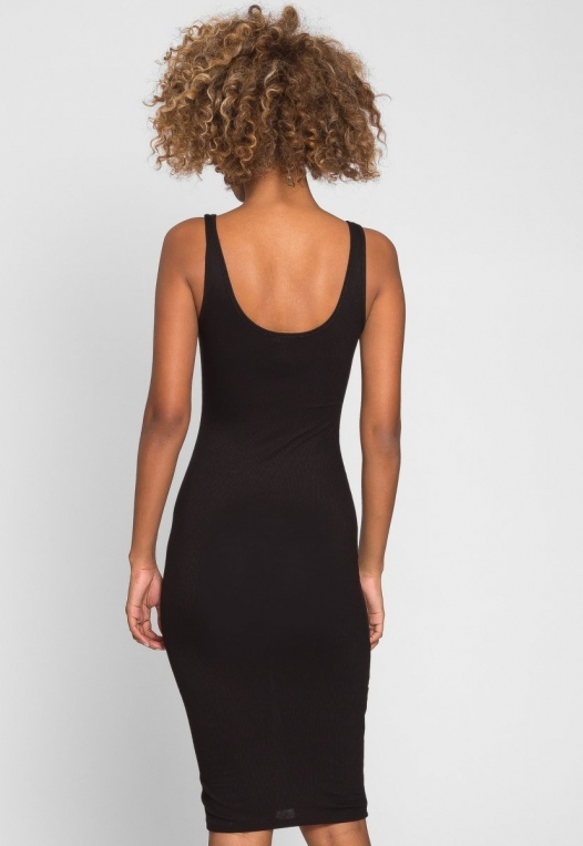 Hugs and Kisses Bodycon Dress in Black alternate img #2