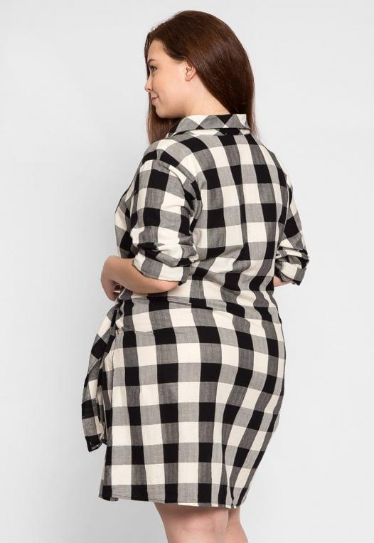Plus Size Buffalo Plaid Dress alternate img #2