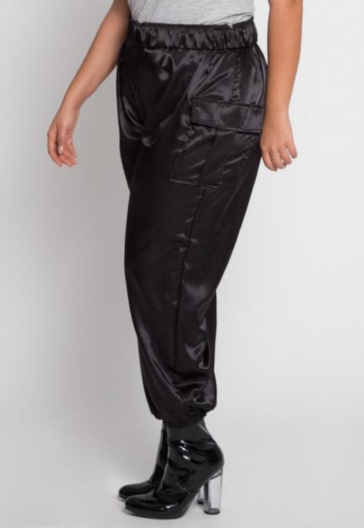 Plus Size Margot Satin Cargo Pants alternate img #2