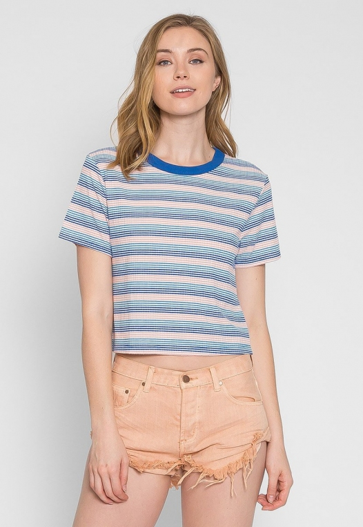 Swirl Stripe Crop Top alternate img #3