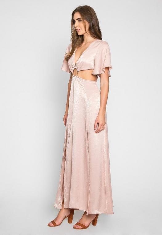Festive Zip Back Cut Out Dress alternate img #1