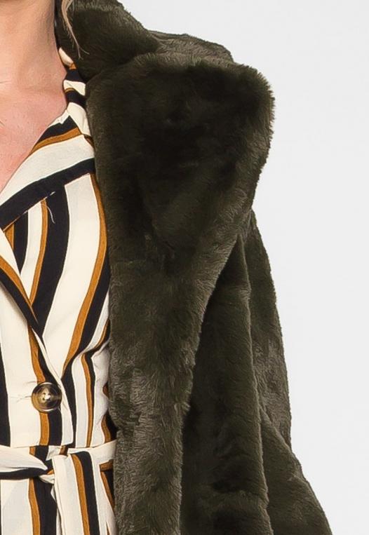 Loving Winter Faux Fur Coat in Green alternate img #6