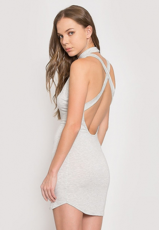 The Original Mock Neck Halter Knit Dress alternate img #2