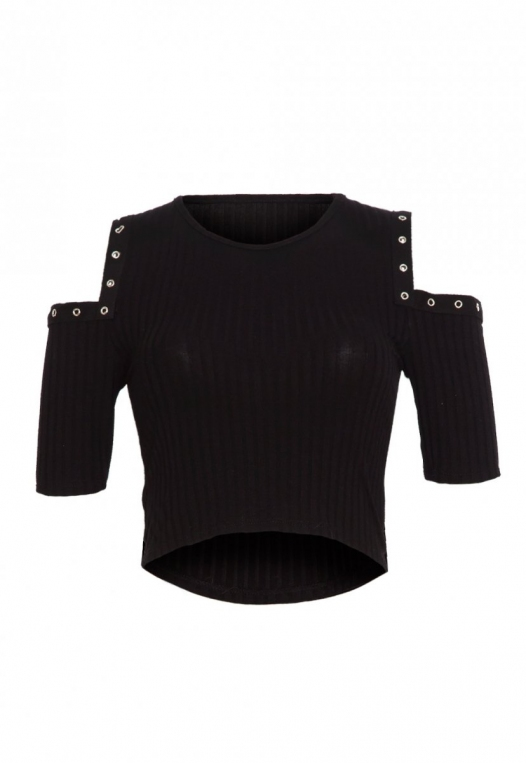 Here Together Snap Trim Crop Top alternate img #8