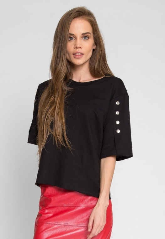 Talbert Button Sweatshirt in Black alternate img #4