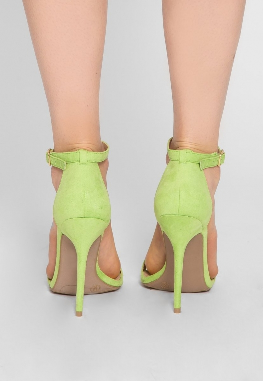 Nature Ankle Strap Heels in Lime alternate img #3