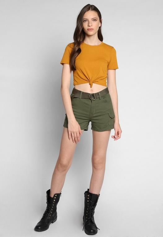 Jungle Belted Cargo Shorts alternate img #4