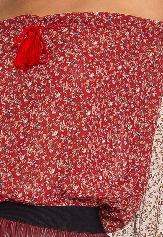 Pembrooke Floral Top in Red alternate img #6