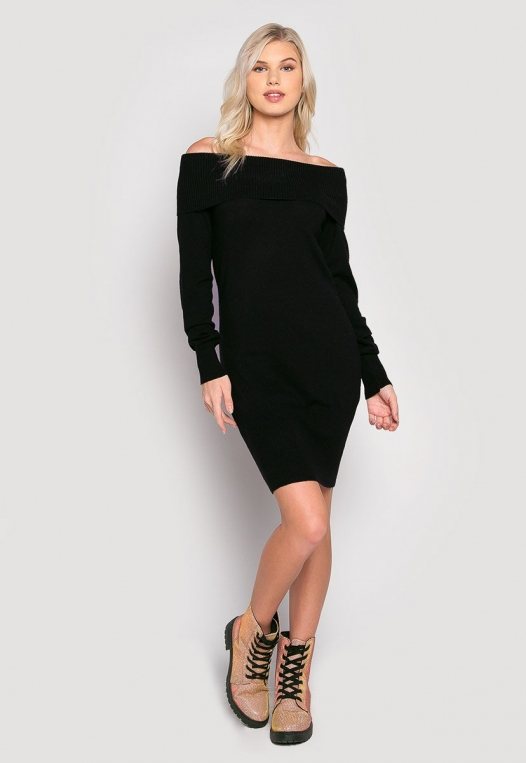 Cosmos Off Shoulder Sweater Dress alternate img #4
