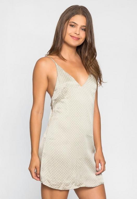 Sugar Dots Slip Dress in Gray alternate img #3