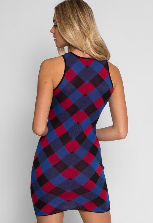 Study Hall Geometric Print Dress in Blue alternate img #3