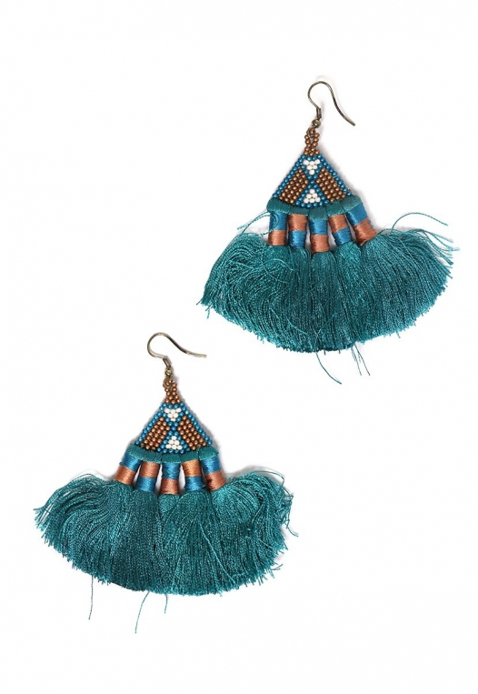 Santa Fe Fringe Fan Earrings alternate img #1